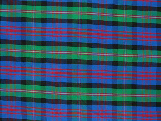 Taffeta Kilt Stripe - Blue and Green