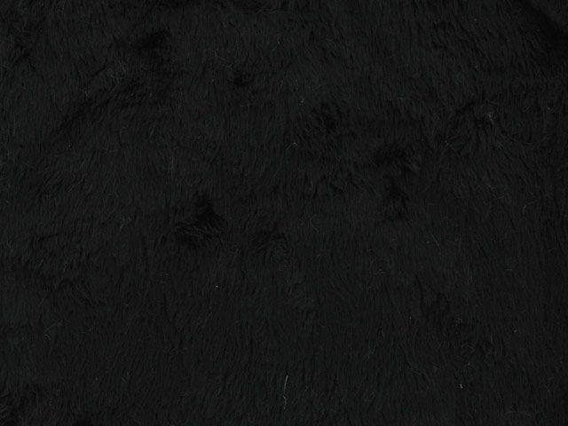 Short Pile Fur Fabric - Black
