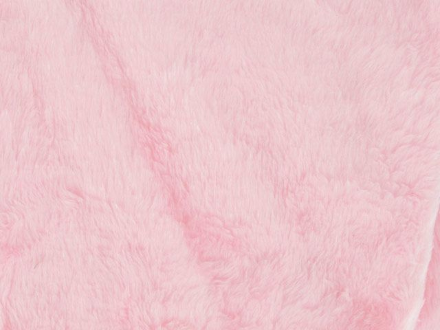 Short Pile Fur Fabric - Bright Pink