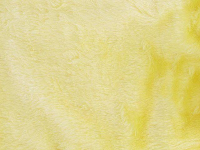 Short Pile Fur Fabric - Buttercup