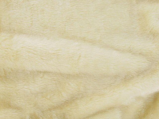 Short Pile Fur Fabric - Light Cream
