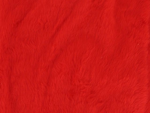 Short Pile Fur Fabric - Red