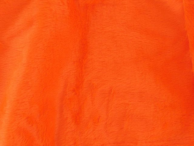 Short Pile Fur Fabric - Tangerine