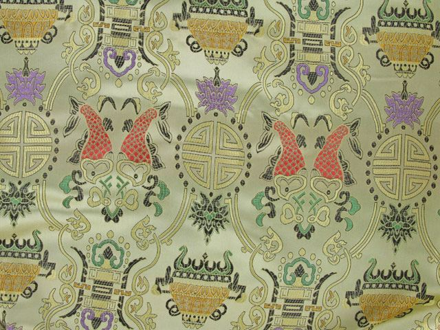Polyester Jacquard, Chinese Tradition - Gold