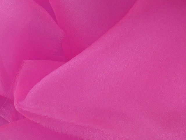 Crystal Organza - Bright Pink