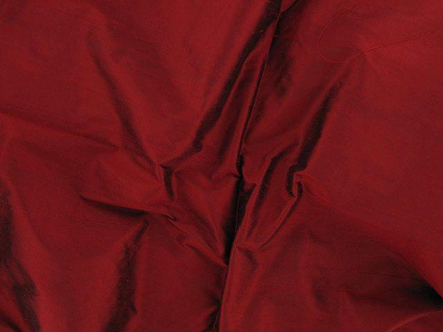 Fashion Silk Dupion - Red Black