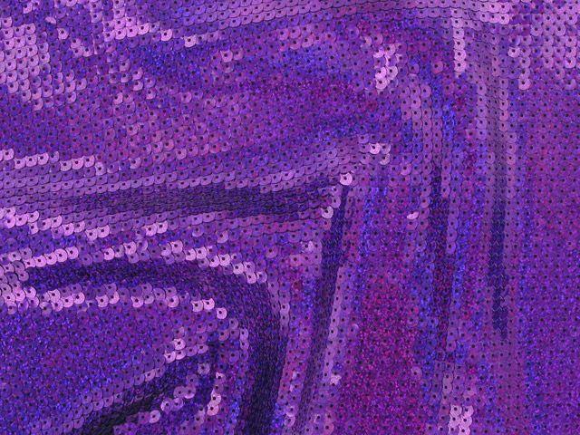 Fishscale Hologram Sequin - Purple