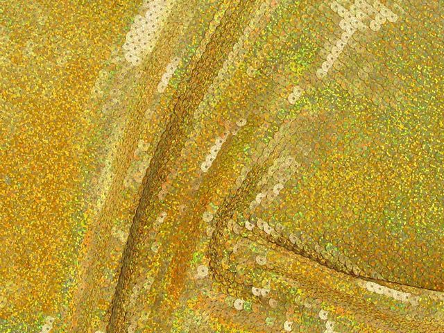 Fishscale Hologram Sequin - Yellow