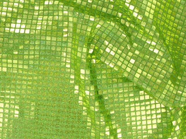 Square Hologram Sequin - Lime