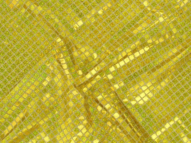 Square Hologram Sequin - Gold