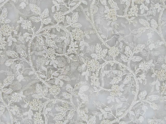 Luxury Floral Bridal Lace - Off White