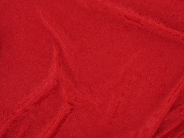 Crushed Velour - Red