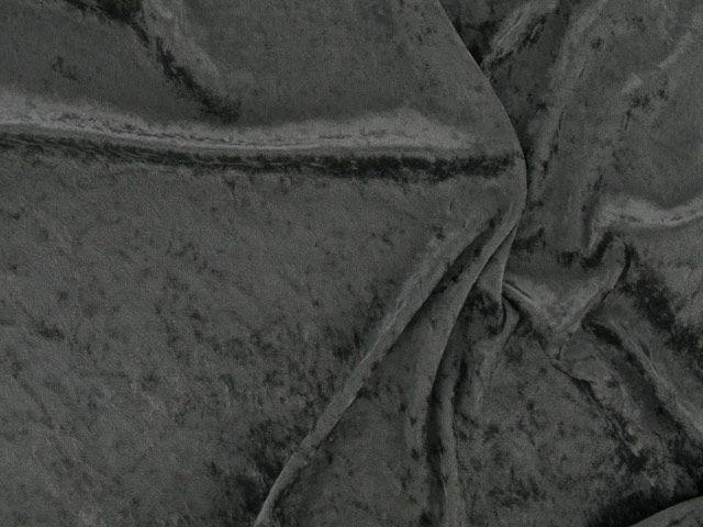 Crushed Velour - Grey