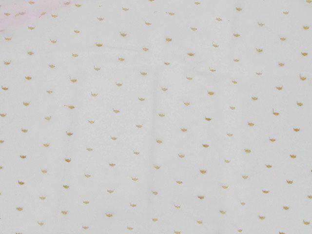 Metallic Spot Nylon Lace - Pink