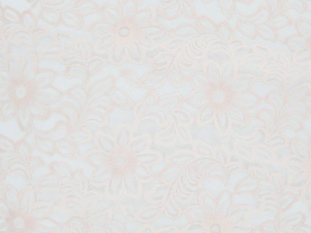 Nylon Flower Stencil Lace - Peach