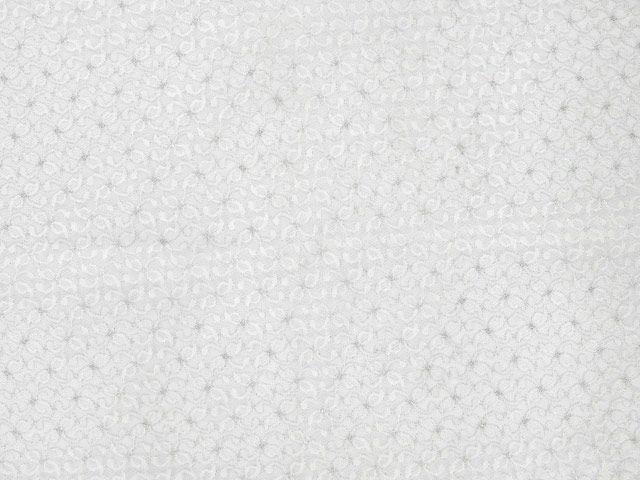 Metallic Leaf Nylon Lace - White