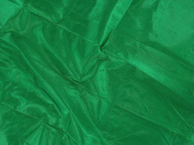 Metallic Silk Dupion - Bottle Green