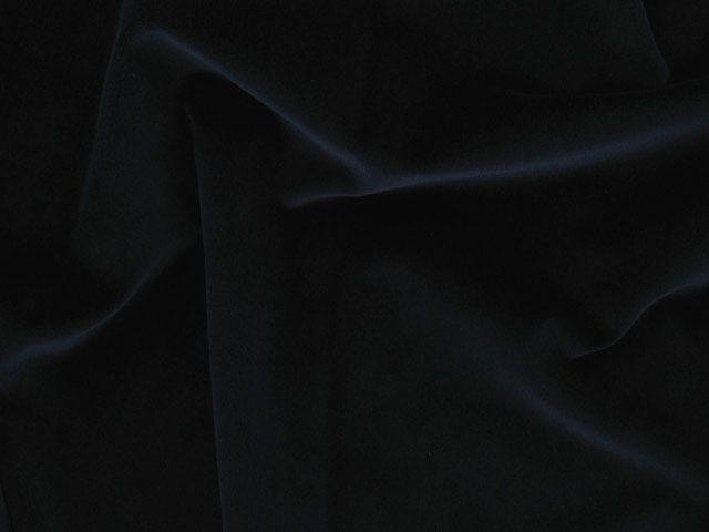 Cotton Pile Velvet, 310 g/m², Navy