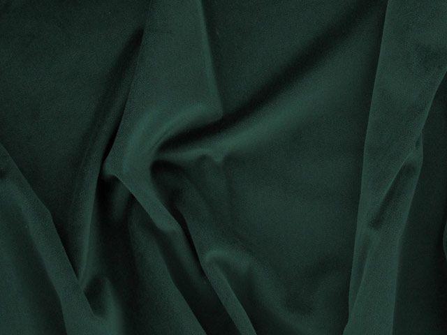 Cotton Pile Velvet, 310 g/m², Bottle Green