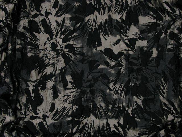 Ruffled Viscose Jersey - Black and Gold
