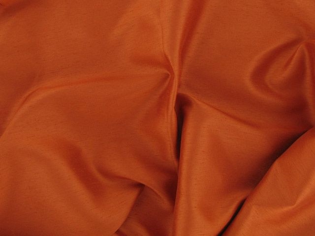 Satin Back Shantung - Burnt Orange
