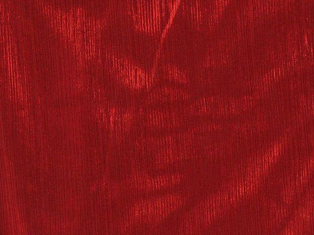 Spandex Knit Foil - Red