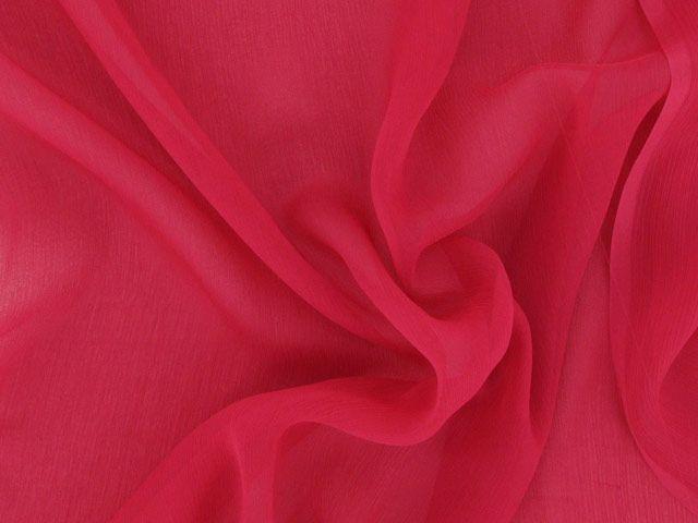 Silk Chiffon - Deep Crimson