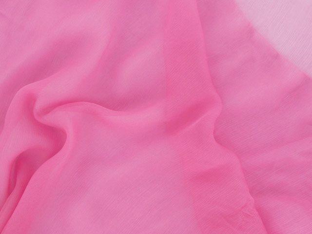 Silk Chiffon - Candy Pink