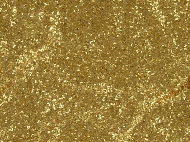Stretch Tulle With 3mm Sequin - Gold