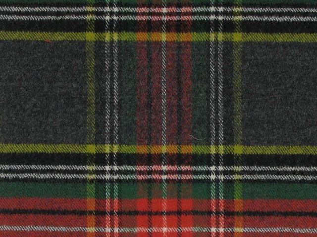 Tartan Wool with Elastane - Grey Ice