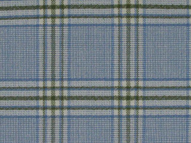 Tartan Wool with Elastane - Light Blue