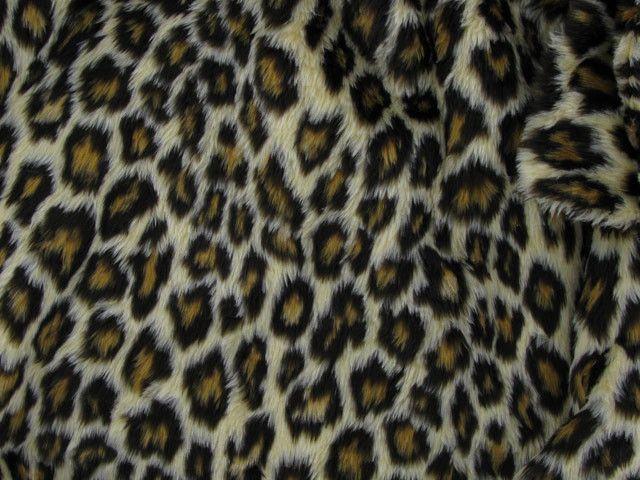 Leopard Short Pile Fur - Leopard Spots