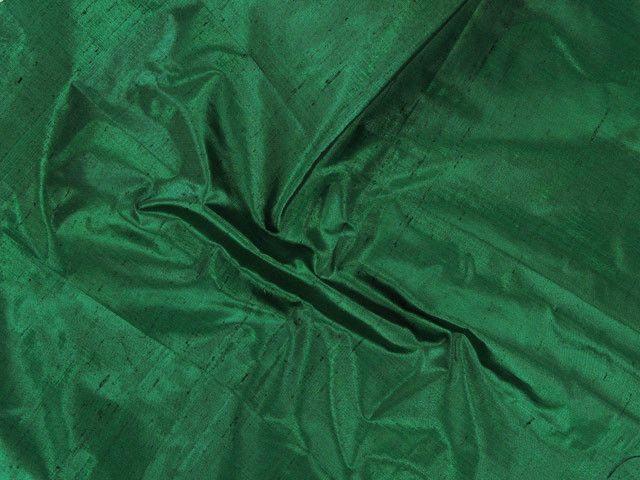 Metallic Silk Dupion - Emerald Green