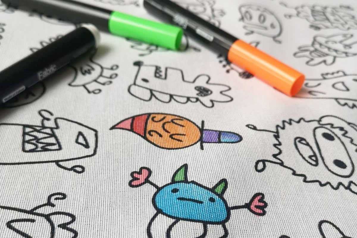 Free fabric markers with Doodle fabric